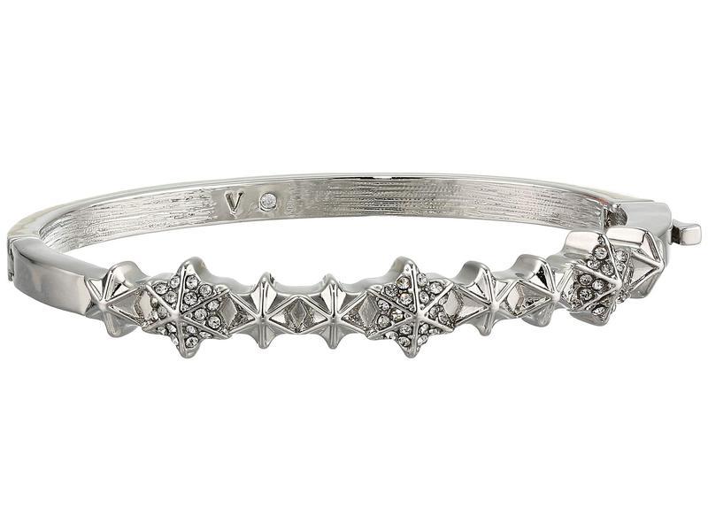 ヴィンスカムート レディース ブレスレット・バングル・アンクレット アクセサリー Small Button Hinge Bracelet Rhodium/Crystal