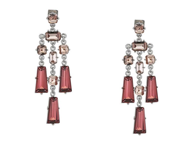 ヴィンスカムート レディース ピアス・イヤリング アクセサリー Linear Lever Earrings Rhodium/Blush R
