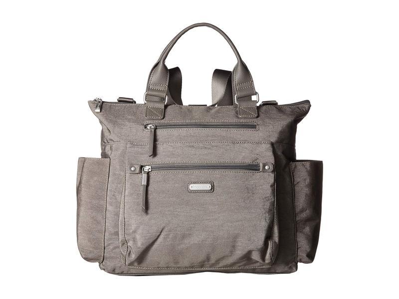 バッガリーニ レディース バックパック・リュックサック バッグ New Classic 3-in-1 Convertible Backpack with RFID Phone Wristlet Sterling Shimme