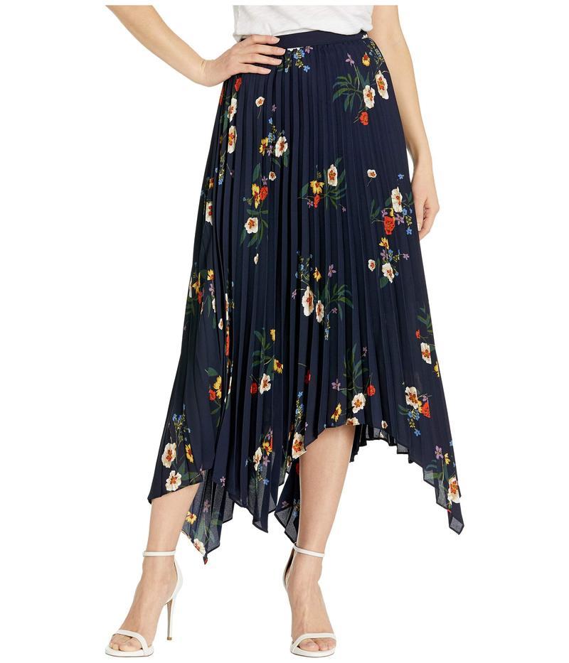 ヴィンスカムート レディース スカート ボトムス Surreal Garden Asymmetrical Hem Pleated Skirt Caviar