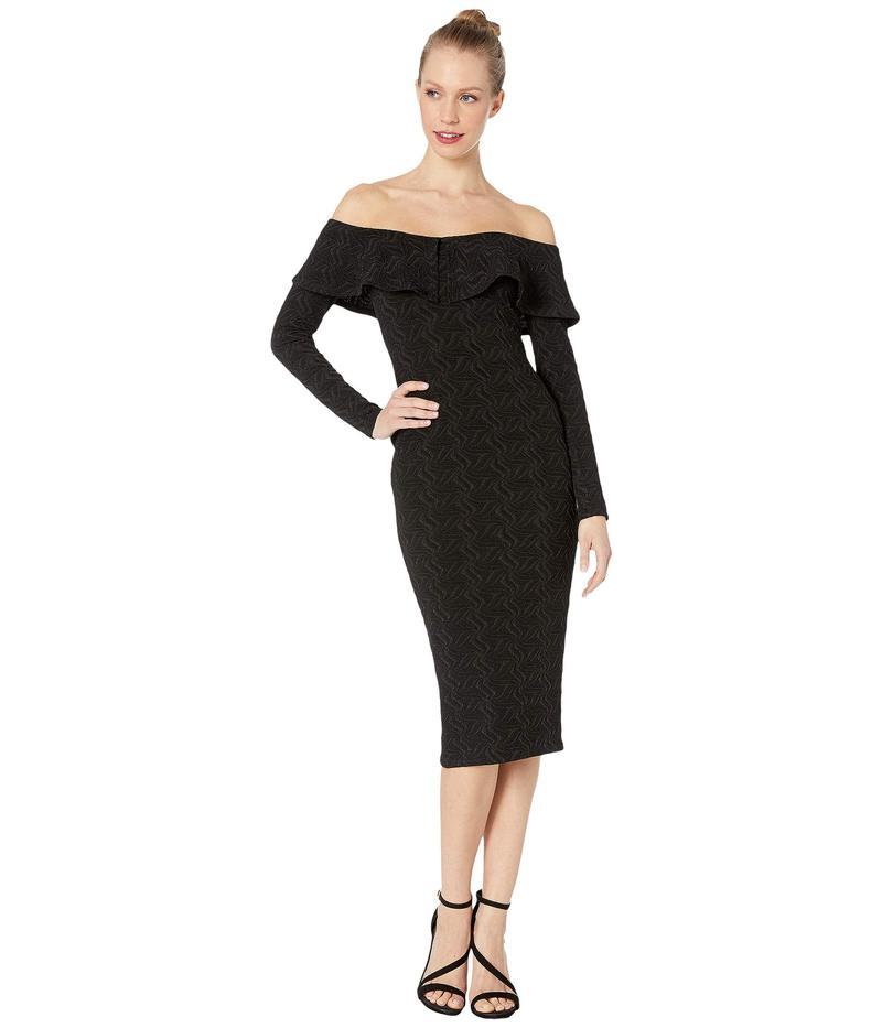 BCBジェネレーション レディース ワンピース トップス Off-the-Shoulder Bodycon Dress TRZ6269513 Black