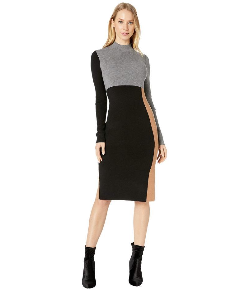 ビーシービージーマックスアズリア レディース ワンピース トップス Color-Block Sweaterdress Black Combo