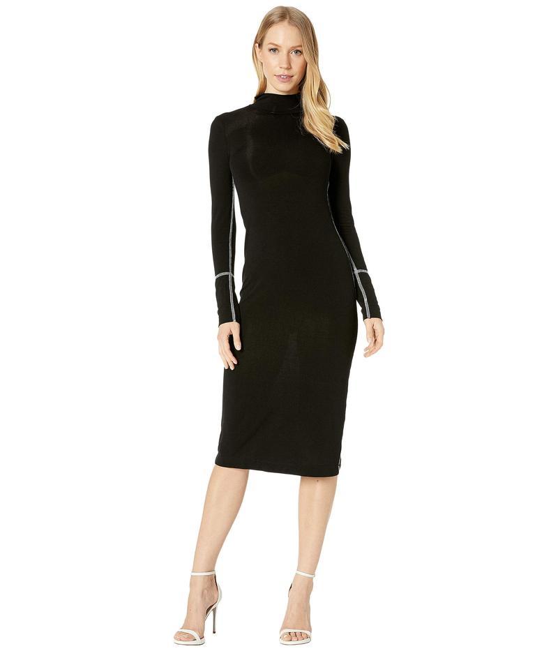 ビーシービージーマックスアズリア レディース ワンピース トップス Turtleneck Jersey Dress Black