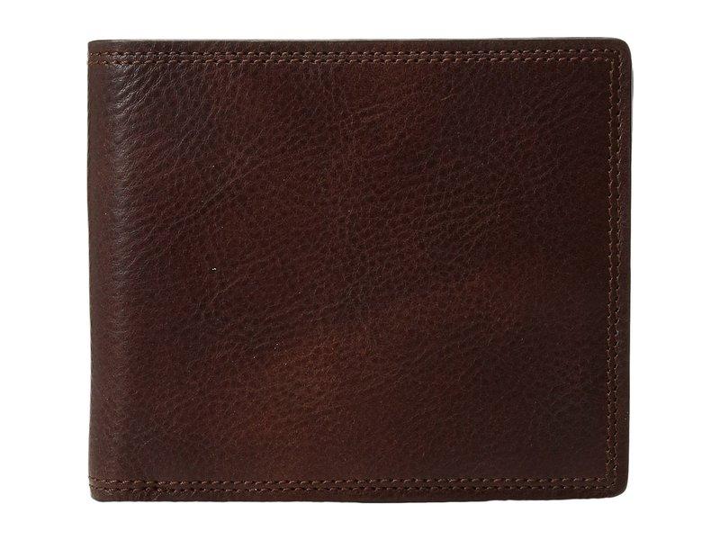 ボスカ メンズ 財布 アクセサリー Dolce Collection - Eight-Pocket Deluxe Executive Wallet w/ Passcase Dark Brown