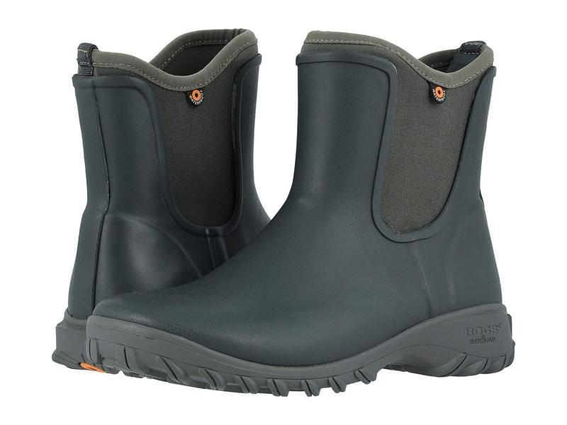 ボグス レディース ブーツ・レインブーツ シューズ Sauvie Solid Slip-On Boot Dark Gray