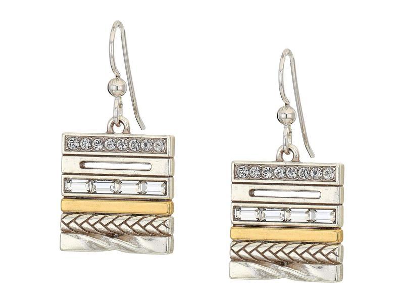 ブライトン レディース ピアス・イヤリング アクセサリー Tapestry French Wire Earrings Silver/Gold