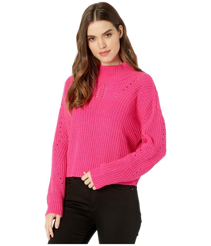 ブランクニューヨーク レディース ニット・セーター アウター Mock Neck Sweater in Pink Cadillac Pink Cadillac