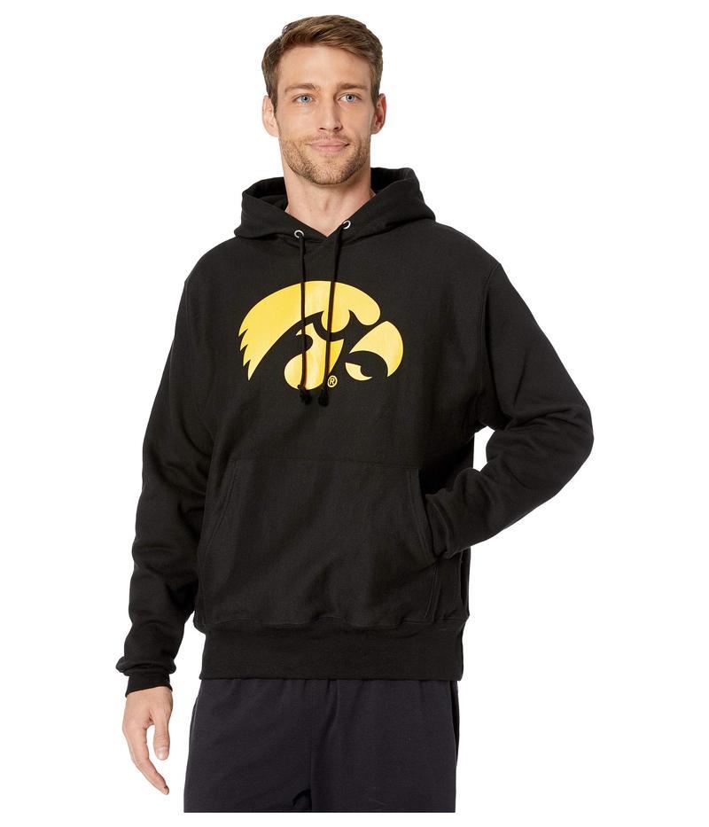 チャンピオン メンズ パーカー・スウェット アウター Iowa Hawkeyes Reverse Weave Hoodie Black