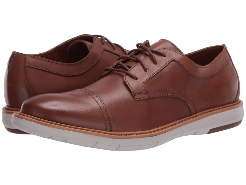 クラークス メンズ オックスフォード シューズ Draper Cap Tan Leather/Bei