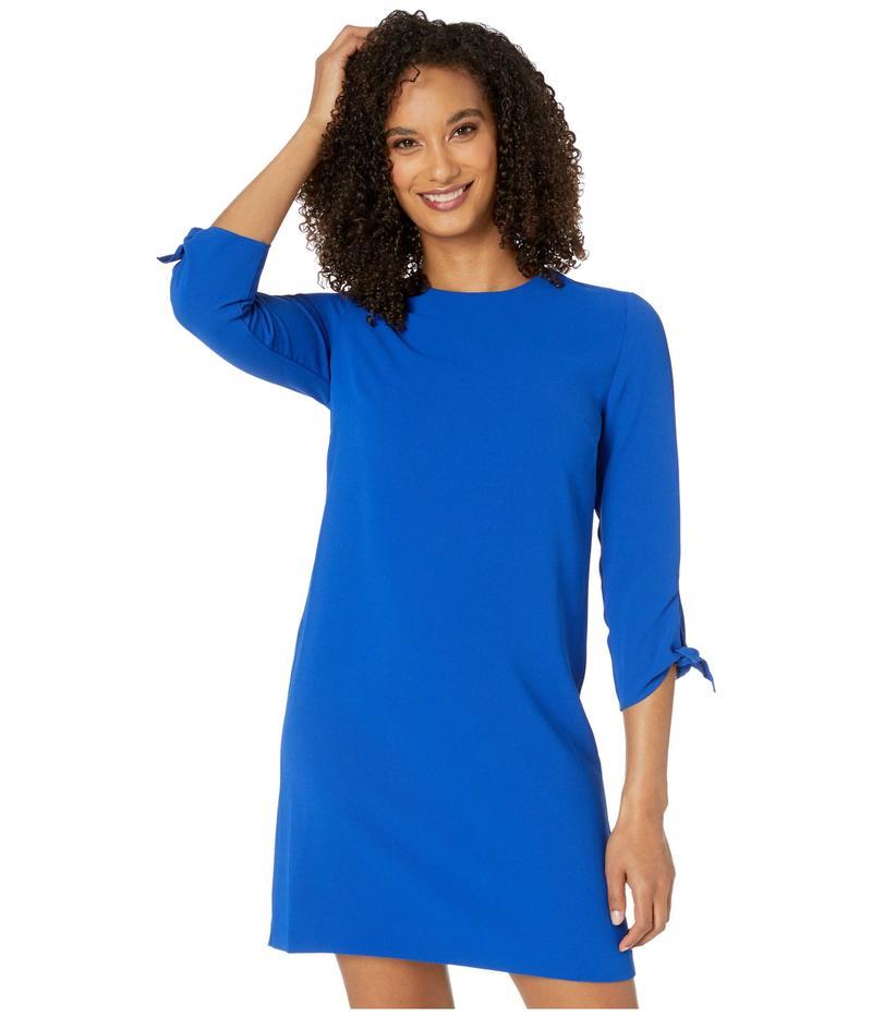 セセ レディース ワンピース トップス 3/4 Tie Sleeve Moss Crepe Shift Dress Deep Royal Blue