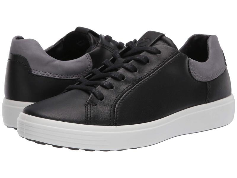 送料無料 サイズ交換無料 エコー メンズ シューズ 割り引き スニーカー Soft Titanium 7 Black 超定番 Classic Sneaker