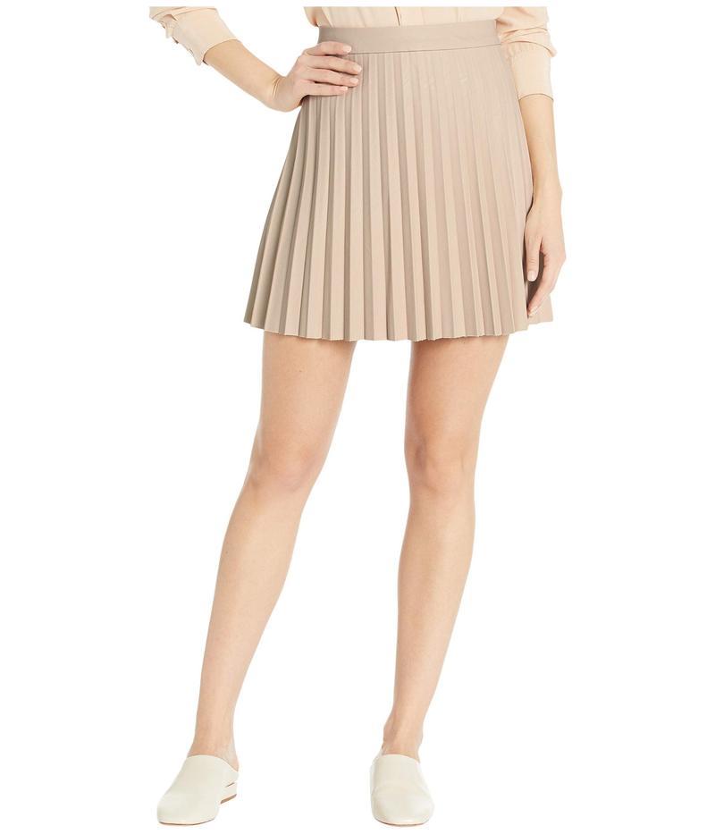 カップケーキアンドカシミア レディース スカート ボトムス Cannes High-Waist Pleated Faux Leather Skirt Bone
