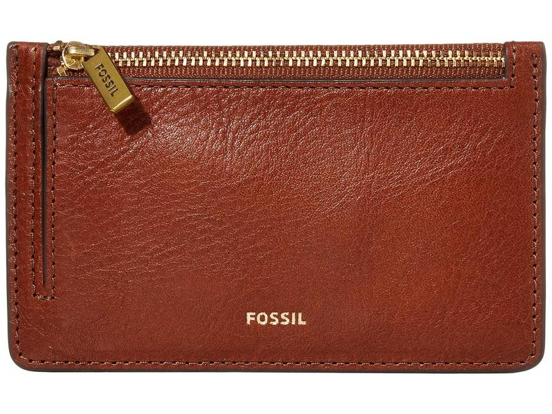 フォッシル レディース 財布 アクセサリー Logan Zip Card Case Wallet Brown