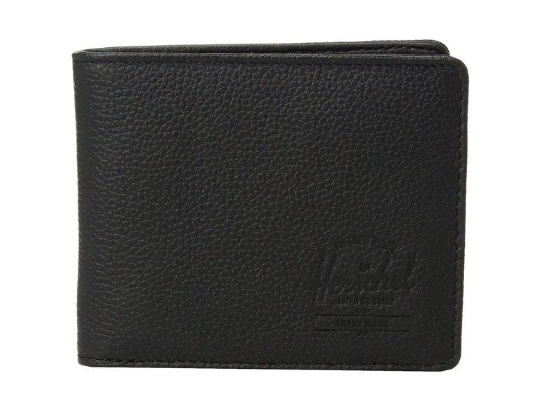 ハーシェルサプライ メンズ 財布 アクセサリー Hank Leather RFID Black Pebbled L