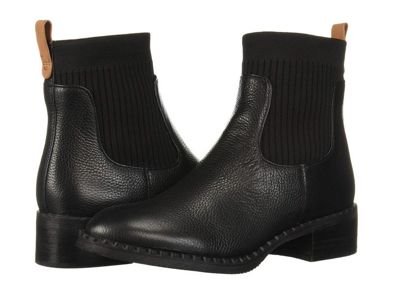 ケネスコール レディース ブーツ・レインブーツ シューズ Best Chelsea Bootie Black Leather