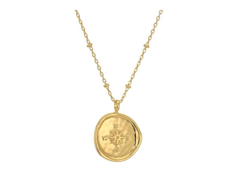 ゴリアナ レディース ネックレス・チョーカー・ペンダントトップ アクセサリー Compass Coin Necklace Gold