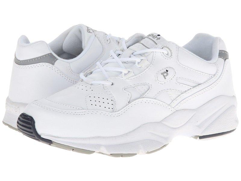 プロペット レディース スニーカー シューズ Stability Walker Medicare/HCPCS Code = A5500 Diabetic Shoe White Leather