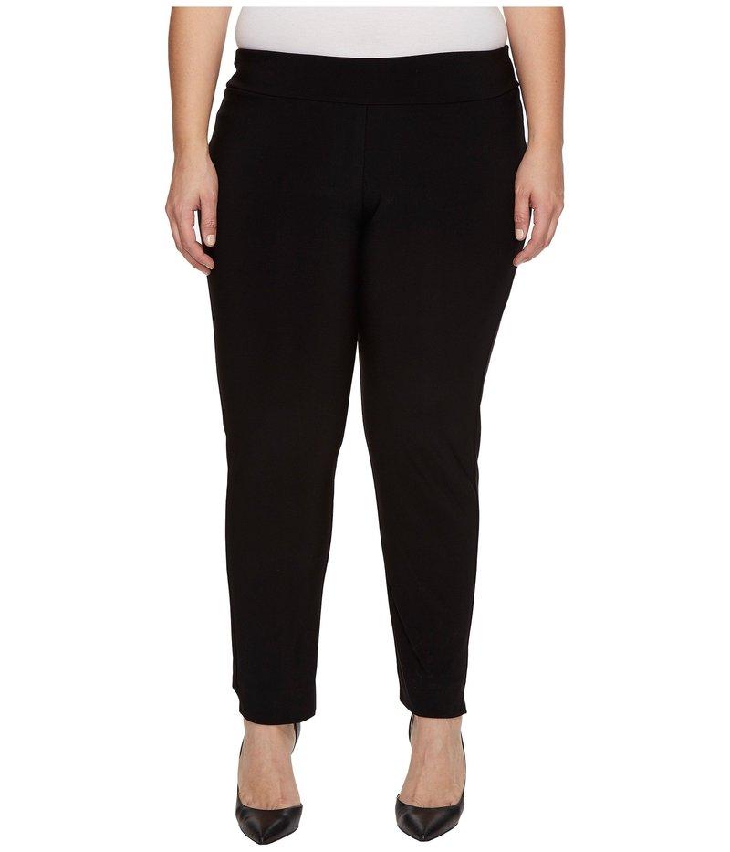 クレイジーラリー レディース カジュアルパンツ ボトムス Plus Size Microfiber Long Skinny Dress Pants Black