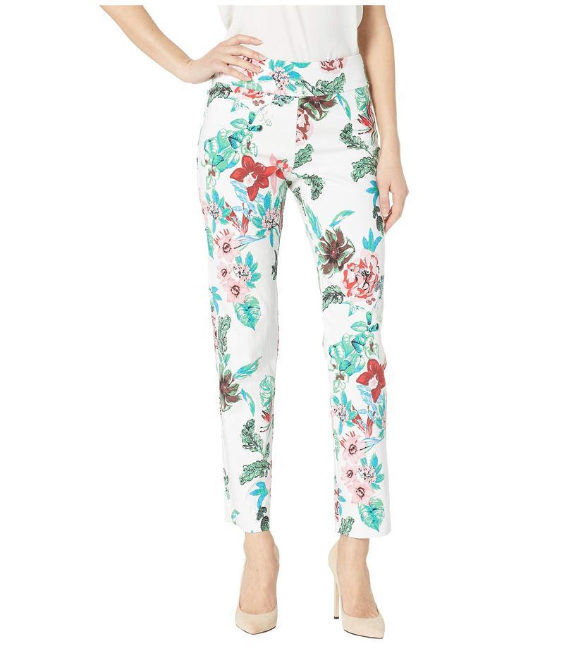クレイジーラリー レディース カジュアルパンツ ボトムス Pull-On Ankle Pants White Flowers