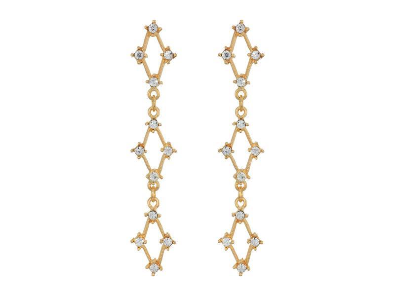 ケネスジェイレーン レディース ピアス・イヤリング アクセサリー Gold with Crystals Three Diamonds Post Earrings Gold/Crystal