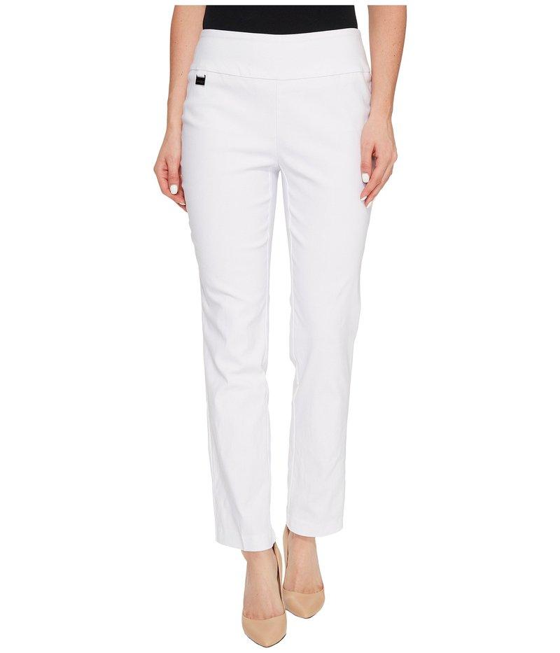 リゼッタ レディース カジュアルパンツ ボトムス Solid Magical Lycra Ankle Pants White