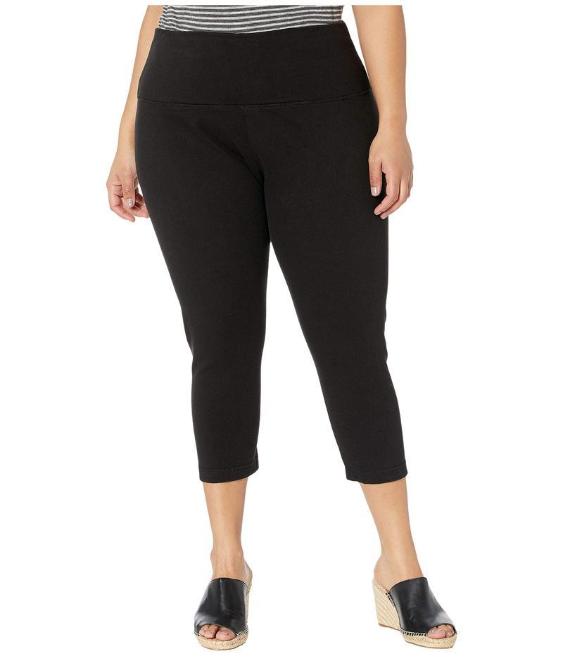 リジー レディース デニムパンツ ボトムス Plus Size Denim Capri Black