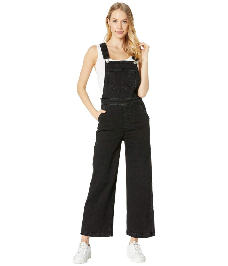 リーバイス レディース カジュアルパンツ ボトムス Ribcage Wide Leg Crop Overall Black Book