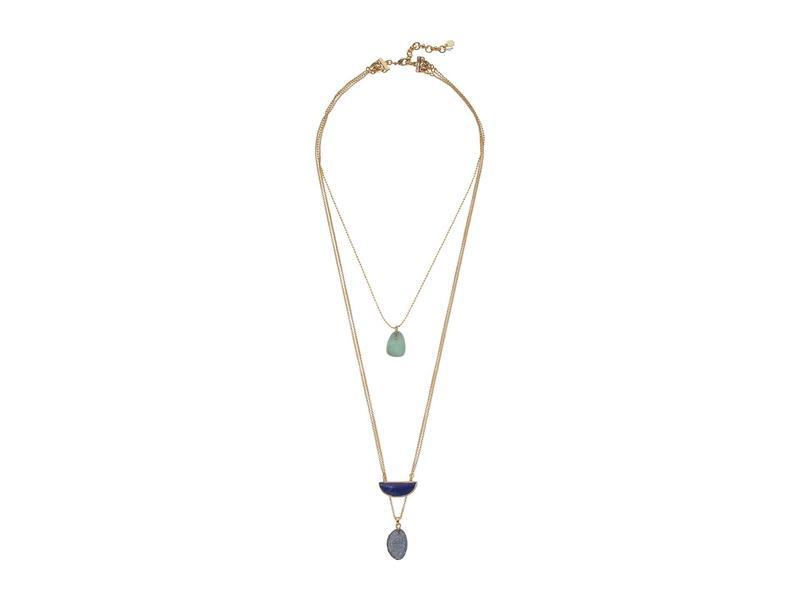 ラッキーブランド レディース ネックレス・チョーカー・ペンダントトップ アクセサリー Set Stone Lucky Layer Necklace Gold
