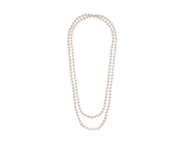 マジョリカ レディース ネックレス・チョーカー・ペンダントトップ アクセサリー 1 Row 8mm Endless Rope Necklace White
