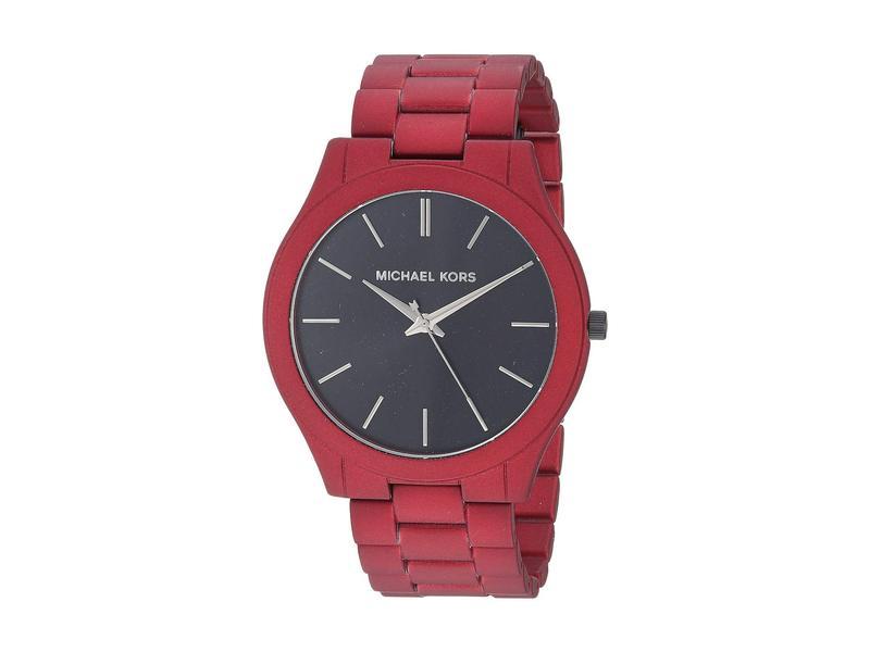 マイケルコース メンズ 腕時計 アクセサリー MK8712 - Slim Runway Red