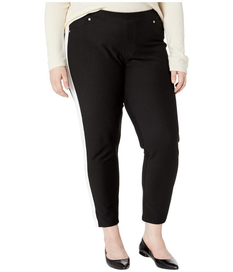 マイケルコース レディース カジュアルパンツ ボトムス Plus Size Stripe Pull-On Leggings Black