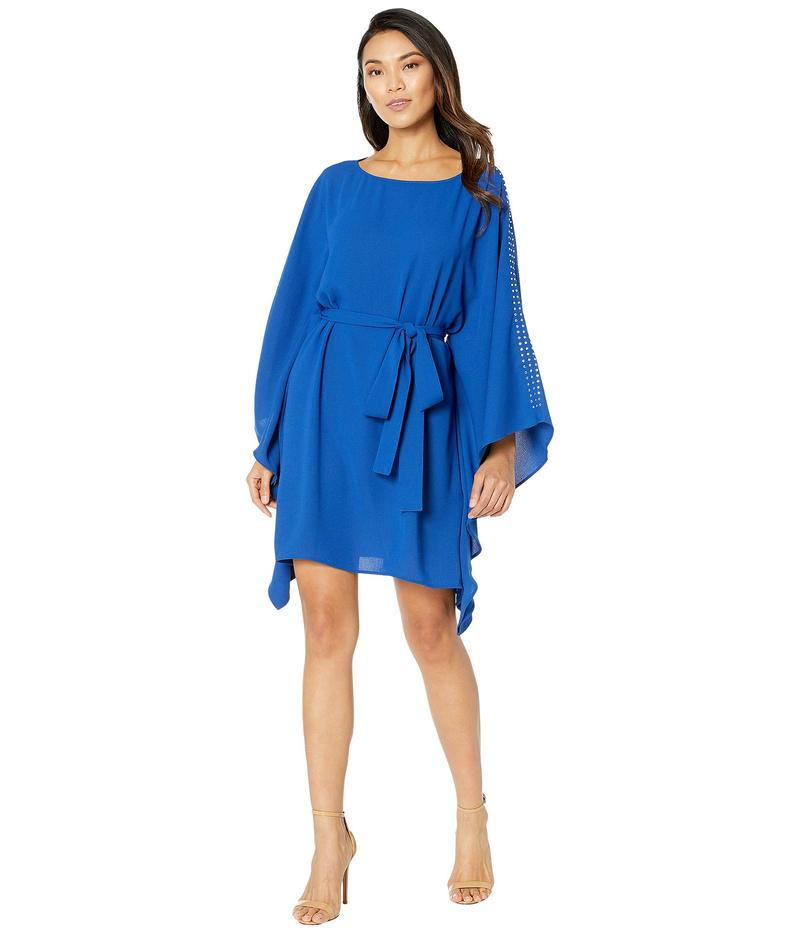 マイケルコース レディース ワンピース トップス Asymmetrical Embellished Boat Neck Dress Twilight Blue