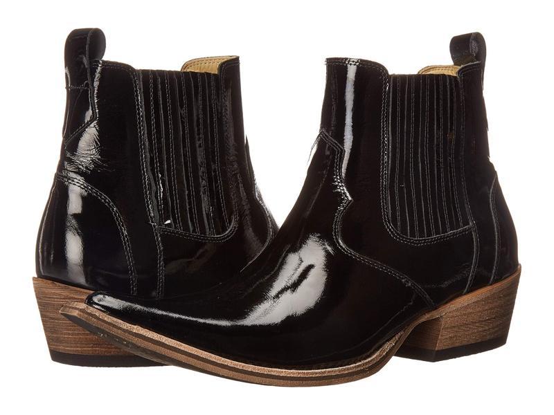 マッシモマッテエロ メンズ ブーツ・レインブーツ シューズ El Padrino Pointy Toe Boot Black Patent Le