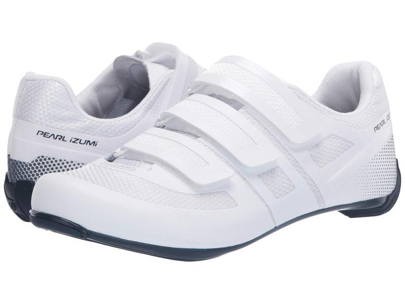 パールイズミ メンズ スニーカー シューズ Quest Road Cycling Shoe White/Navy