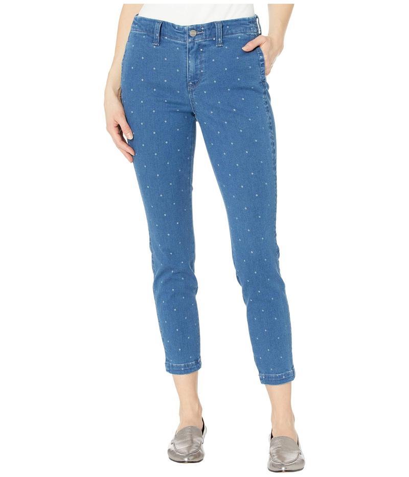 エヌワイディージェイ レディース デニムパンツ ボトムス Ami Skinny Ankle Jeans with Side Seam Welt Pockets in Beachside Polka Dot Beachside Polka