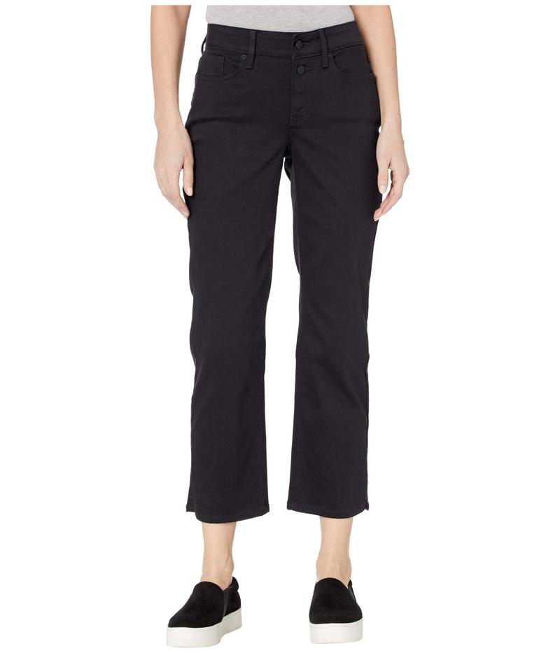 エヌワイディージェイ レディース デニムパンツ ボトムス Marilyn Straight Ankle Jeans with Mock Fly in Black Black