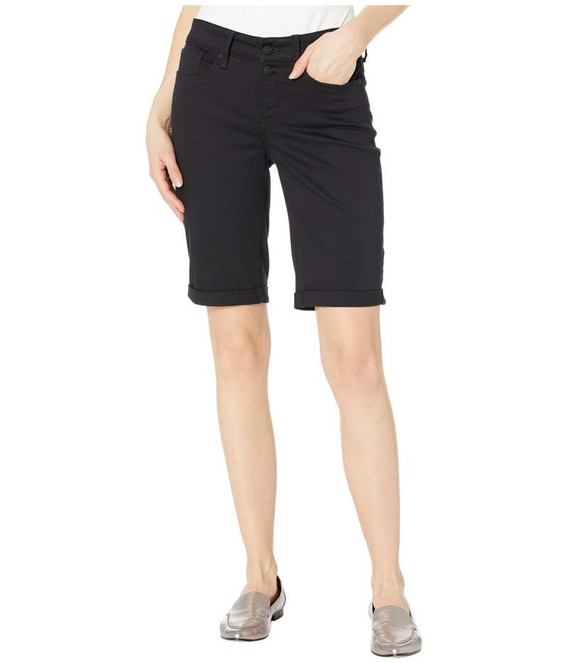 エヌワイディージェイ レディース ハーフパンツ・ショーツ ボトムス Briella Shorts with Mock Fly and Roll Cuff in Black Black