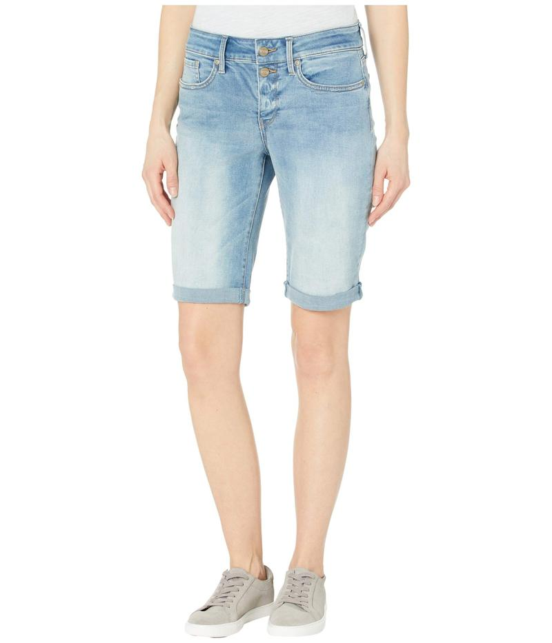 エヌワイディージェイ レディース ハーフパンツ・ショーツ ボトムス Briella Denim Shorts with Mock Fly and Roll Cuff in Biscayne Biscayne