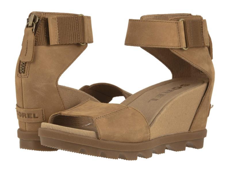 ソレル レディース ヒール シューズ Joanie¢ II Ankle Strap Camel Brown Ful