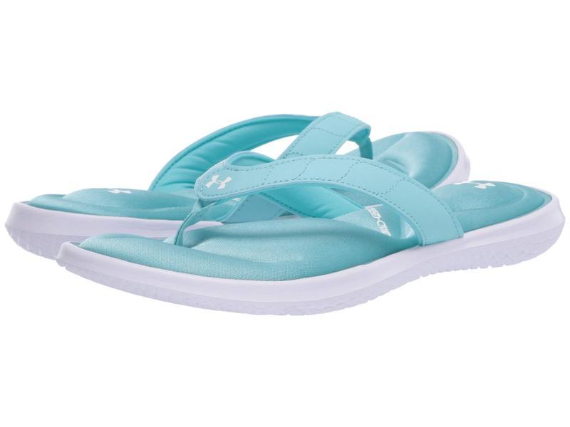 アンダーアーマー レディース サンダル シューズ UA Marbella VII T White/Blue Haze