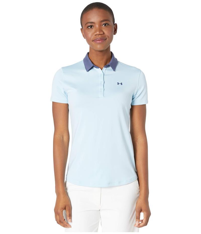 アンダーアーマー レディース シャツ トップス Zinger Short Sleeve Polo Blue Frost/Blue