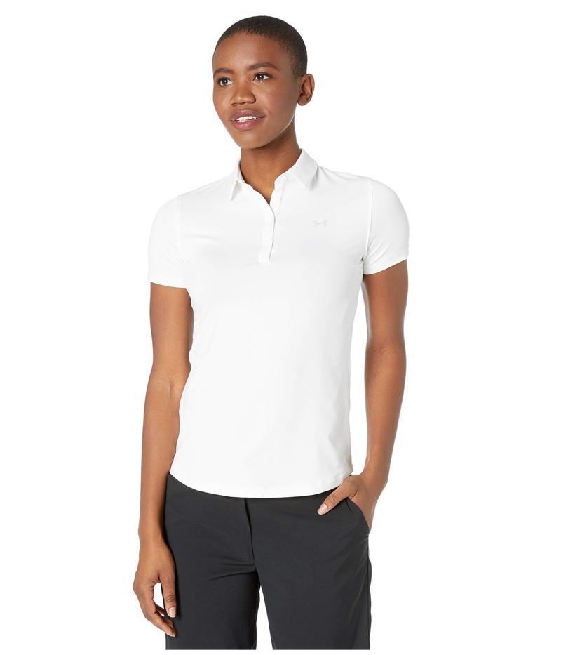 アンダーアーマー レディース シャツ トップス Zinger Short Sleeve Polo White/Halo Gray