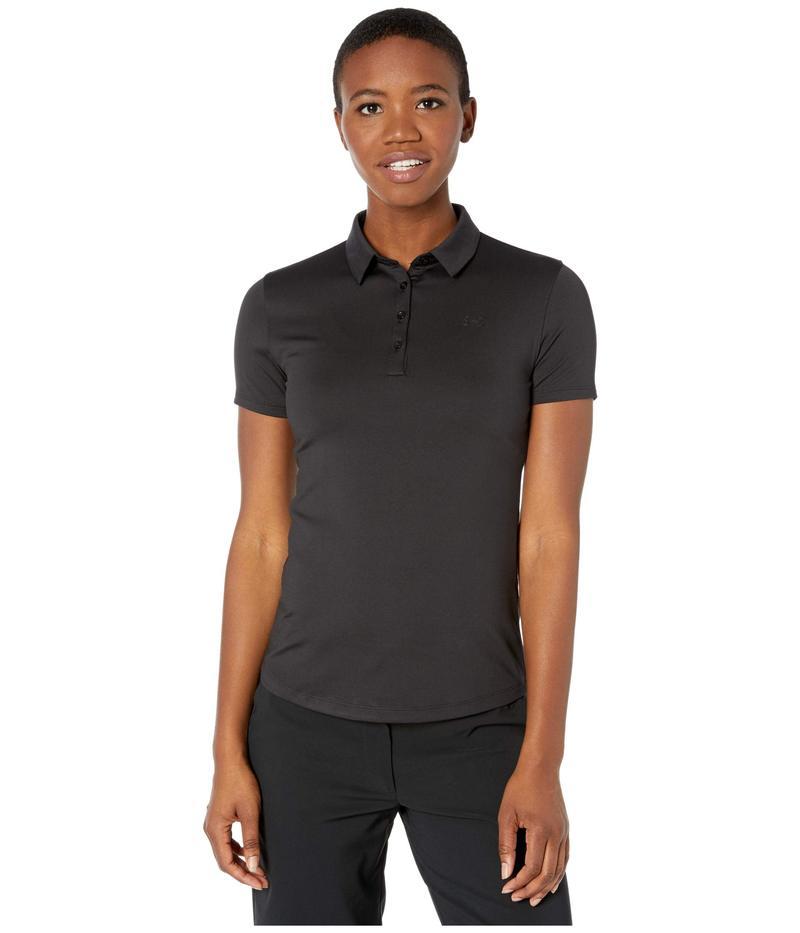アンダーアーマー レディース シャツ トップス Zinger Short Sleeve Polo Black/Black