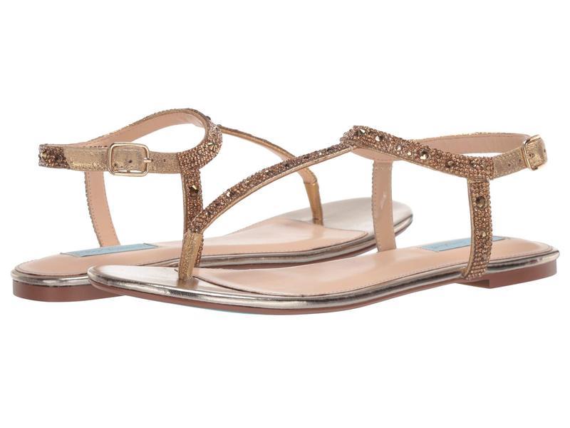 ブルーバイベトシージョンソン レディース サンダル シューズ Lux Flat Sandal Gold