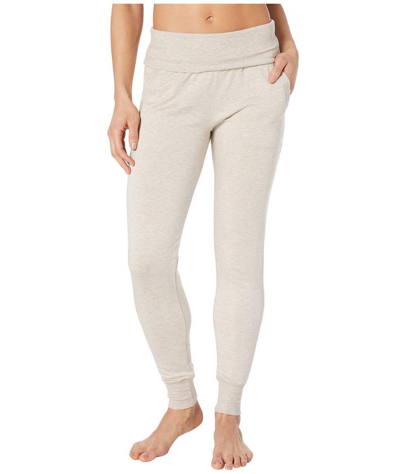 ビヨンドヨガ レディース カジュアルパンツ ボトムス Fleece Fold-Over Sweatpants Oatmeal Heather