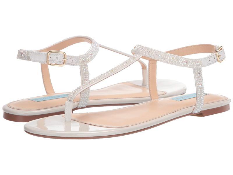 ブルーバイベトシージョンソン レディース サンダル シューズ Lux Flat Sandal White
