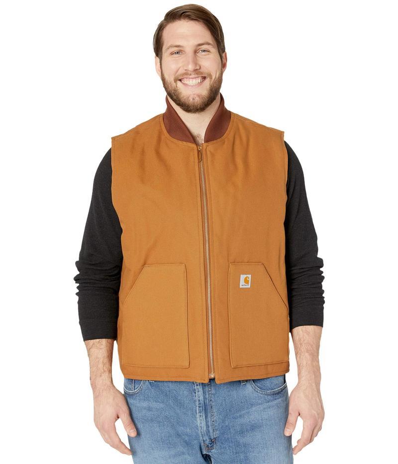 カーハート メンズ コート アウター Big & Tall Duck Arctic Vest Carhartt Brown