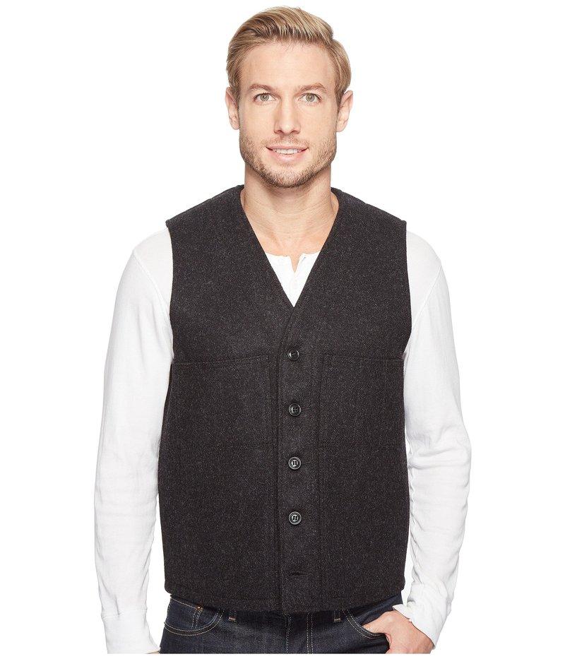 フィルソン メンズ コート アウター Mackinaw Wool Vest Charcoal