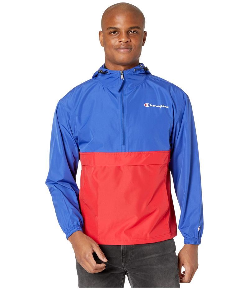 チャンピオン メンズ コート アウター Colorblocked Packable Jacket Surf the Web/Sc