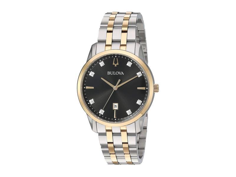 ブロバ メンズ 腕時計 アクセサリー Sutton - 98D165 Two-Tone Yellow